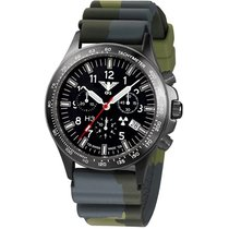 KHS Uhren Herrenuhr Black Platoon Titan Chronograph KHS.BPTC.DC3