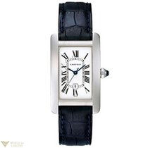 Cartier Tank Americaine Midsize 18K White Gold Ladies Watch