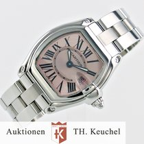 Cartier Roadster Pink Roman dial Full Set + Strap and Clasp