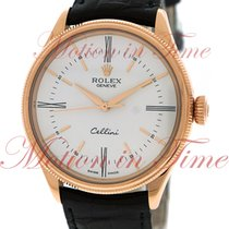 Rolex Cellini Time, White Dial - Rose Gold on Strap