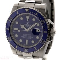 Rolex Submariner Date Ref-116619LB 18k White Gold Box Papers...