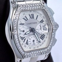 Cartier Roadster Xl 2618 Chronograph Automatic 1.55ct Diamond...