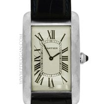 Cartier 18k white gold ladies Tank American