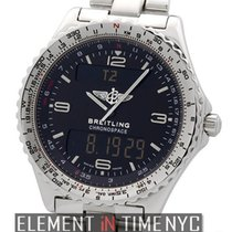 Breitling Chronospace Stainless Steel 42mm Quartz 1990's...
