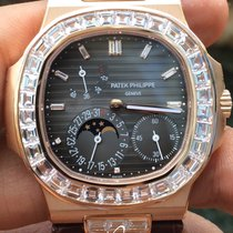 Patek Philippe 5724R Nautilus Rose Gold and Baguette Diamond