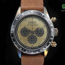 Out Of Order Chrono Palude Vintage Leather Italian Watch (cream)