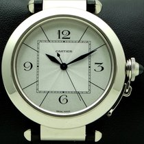 Cartier Pasha XL, 42mm 18 kt White Gold, full set