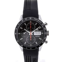 TAG Heuer Carrera Day-Date Automatic Chronograph 41 Black Dial...