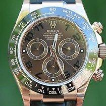 Rolex Daytona 18k Rose Gold Chocolate Dial Black Arabic 116515...