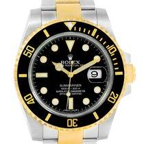 Rolex Submariner Steel Yellow Gold Black Dial Watch 116613 Box