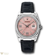 Rolex Oyster Perpetual Datejust 18K White Gold & Diamonds...
