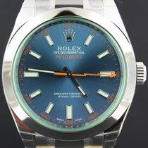Rolex Milgauss Blue Dial Steel, Full Set 40MM 116400GV