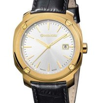 Wenger Mens Edge Index - Gold-Tone - White Dial - Date - Black...