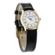 Baume & Mercier Baume  Ladies 18K Gold Black Leather Strap...