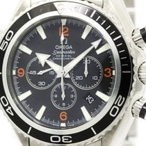 Omega Polished Omega Seamaster Planet Ocean 600m Chronograph...