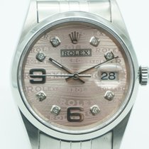 Rolex Datejust 36mm Stainless Steel Jubilee Pink Dial Diamonds
