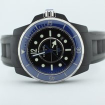 Chanel Black And Blue Rubber Clad J12 Marine