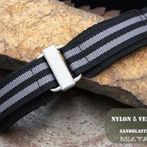 MiLTAT 22mm Velcro Fastener Watch Strap, NyJBB Nylon BL