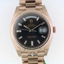 Rolex 228235 Day-Date Choco Dial Pres Brac Everose