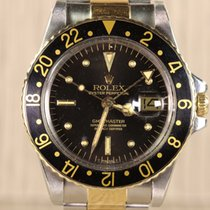 Rolex GMT MASTER STEEL & GOLD 1675 NIPPLE DIAL BLACK