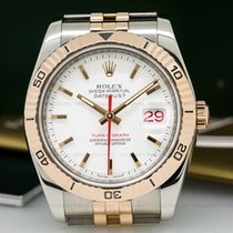 Rolex 116261 Datejust Turn-O-Graph SS / 18K RG White Dial (25445)