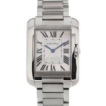 Cartier Tank Anglaise Silver Dial Ladies Quartz