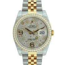 Rolex Datejust 36 MM 18K Gold Diamonds