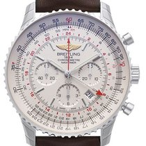 Breitling Navitimer GMT Chronograph Brown Leather Men's Watch