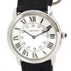 Cartier Rondê Solo W6700255 Steel, Leather, 36mm