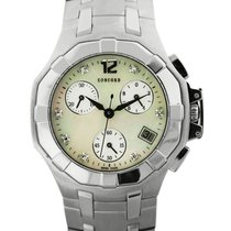 Concord Saratoga Ladies Stainless Steel Chronograph Watch