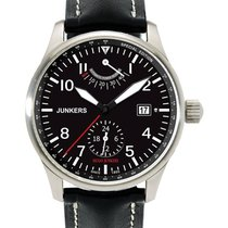 Junkers Auto Watch Power Reserve Exhibition Back 42mm Black...