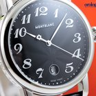 Montblanc Men's Star XL 40mm Steel On Leather Strap Black...