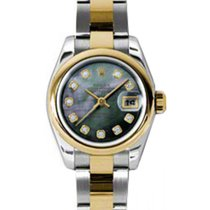 Rolex Lady-Datejust 26 179163-DMOPDO Dark Mother of Pearl...