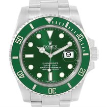 Rolex Submariner Hulk Green Dial Steel Mens Watch 116610lv Box...