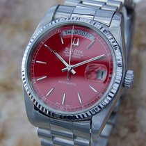Bulova Super Seville Rare Swiss Made Day Date Mens Automatic...