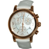 Tissot Dressport Mop Dial White Synthetic Leather Ladies Watch...