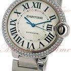 Cartier Ballon Bleu Medium Auto, Silver Dial, Dia Bezel -...