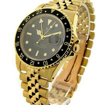 Rolex Used Yellow Gold GMT Master 16758