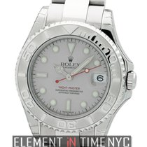 Rolex Yacht-Master Mid-Size Stainless Steel Platinum Dial...
