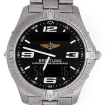 Breitling Aerospace Digital/Analog Alarm GMT Titanium Men'...