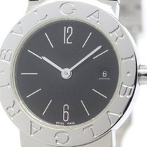 Bulgari Polished  - Steel Quartz Ladies Watch Bb26ss (bf103059)