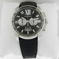 Cartier Calibre de Cartier Chronograph W7100060 Steel Black Dial