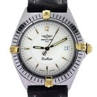 Breitling Callisto B57045 Two Tone Mens Watch on Leather