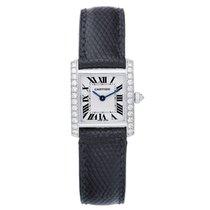 Cartier Tank Francaise 18k White Gold & Diamonds Ladies...