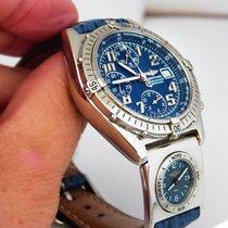 Breitling Chronomat Vitesse UTC, blue dial, Full Set, first...