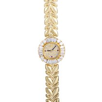 Audemars Piguet Diamond Pave Dial 18K Yellow Gold Ladies Watch