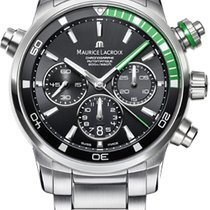 Maurice Lacroix Pontos S Chronograph, Green Details, Steel...