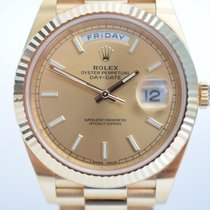 Rolex DayDate 40 Yellow Gold President Champagne Dial IN STOCK