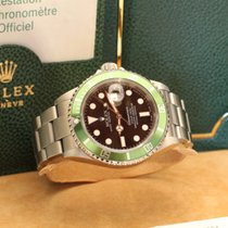Rolex submariner fat four mk1 green bezel box papers F 50th ...