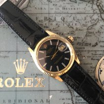 Rolex Date Black Dial - Gold 18kt 15038